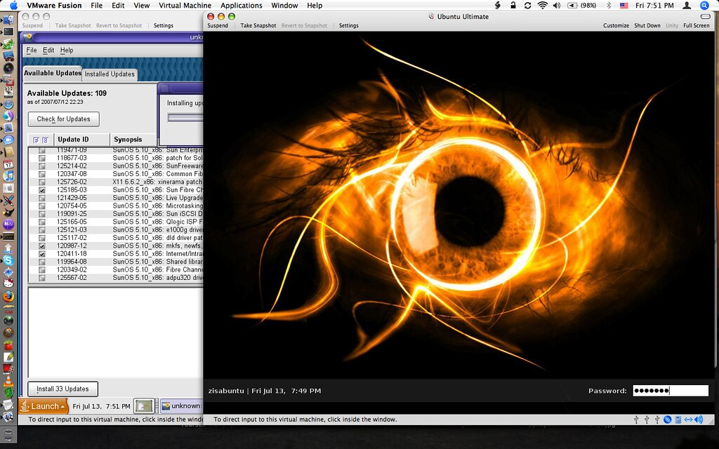 Solaris and Ubuntu