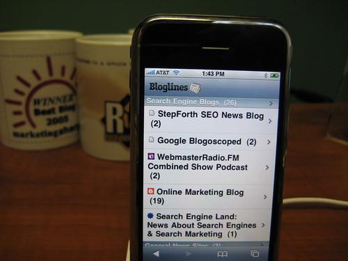 Bloglines on iPhone: i.bloglines.com