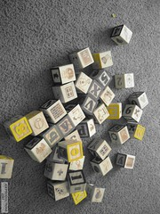 blocks - yellow (jde-09) Tags: buildingblocks babytoys alphabetblocks jdeproductions
