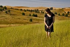 Kimberly (austinspace) Tags: sunset portrait woman field washington dusk farm wheat cheney magichour goldenhour primitiveroad