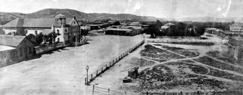 Los Angeles Plaza Park in 1869