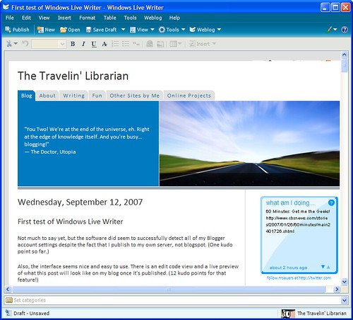 Windows Live Writer - Web Preview