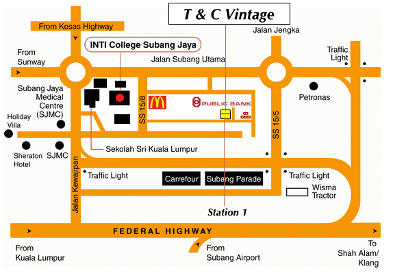 Map to T&C Vintage
