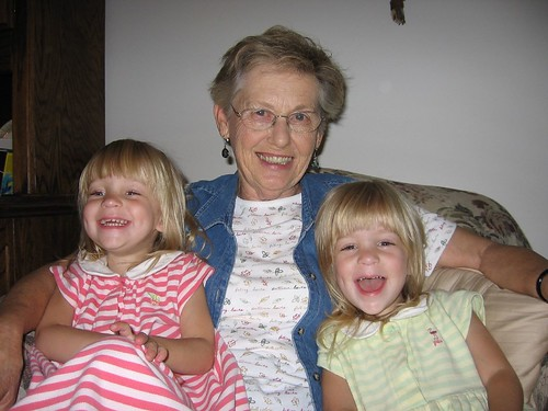 Great-grandma and girls