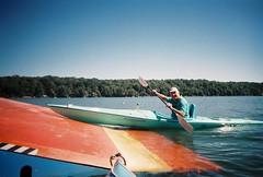 Roger tries the water ski lift (ct_kayak) Tags: acm bantam kleinert liquori pietrobono milhaven