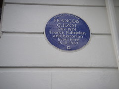 Photo of François Guizot blue plaque