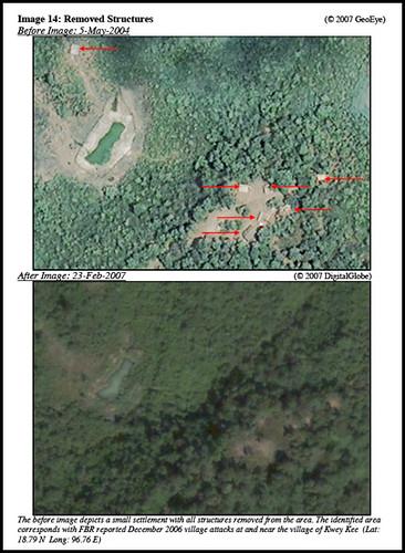 Satellite Pictures Confirming Raising of Villages in Burma