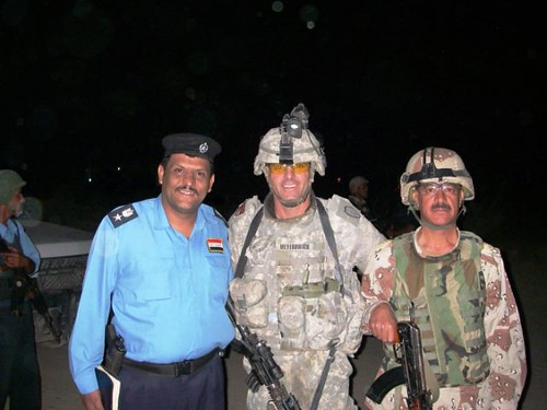Drew with his Iraqi counterparts