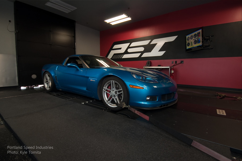 2008 Corvette Z06 on dyno at PSI 2