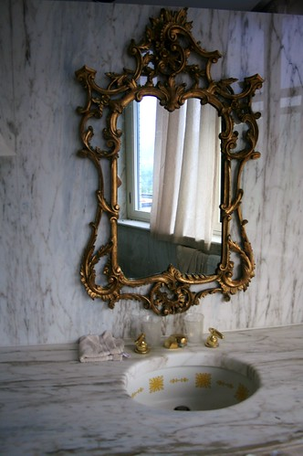 Ornate Bathroom Mirror And Sink