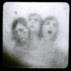C e r b e r u s (oNe.SwEeT.wOrLd) Tags: portrait self square person scary creepy spooky scream demon demonic clone possessed genuine showerdoor threeheadedmonster threeheaded ttv nikond60 kodakduaflex holloweyed monarchimages