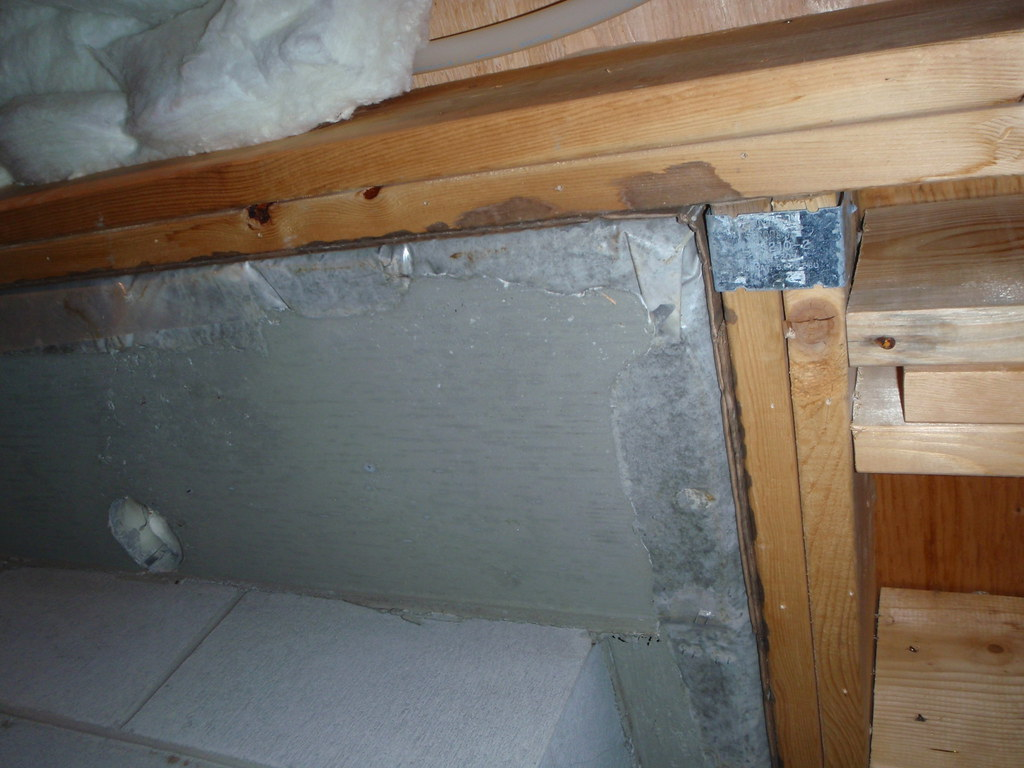 Bottom of slab under fireplace