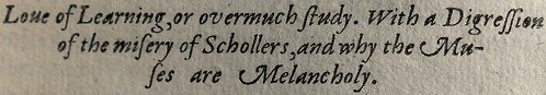 Subsection Fifteen of the causes of melancholy.