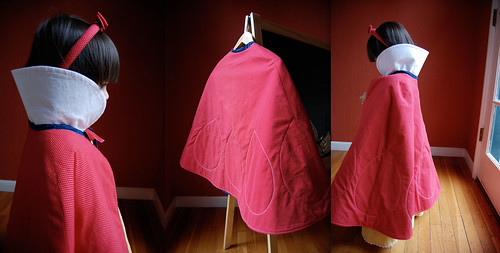 Toddler Snow White Costume With Vintage Patterns Used For Best Toddler Cape Pattern