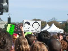 Not Hitler (desbah) Tags: washingtondc dc rally stewart cobert restoresanity sanityandorfear