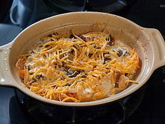 Sweet Potato, Apple, and Caramelized Onion Gratin