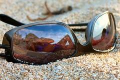 IMG_8068a (Eve Lane) Tags: ocean reflection beach sunglasses closeup hawaii glasses sand shell evelane