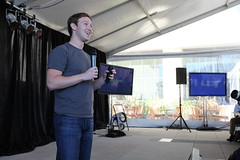 Facebook Press Conference (Robert Scoble) Tags: press facebook messaging