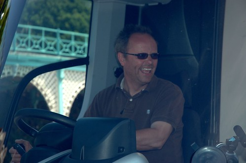 Robert Llewellyn in the driving seat