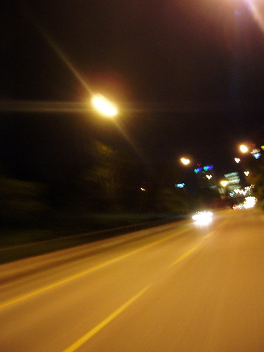 Center Street at Night at 44 km/h