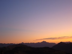 Looking North East 2 (chuckse7en) Tags: blue sunset orange mountain phoenix night landscape dusk gradient nightfall afterglow southmountain