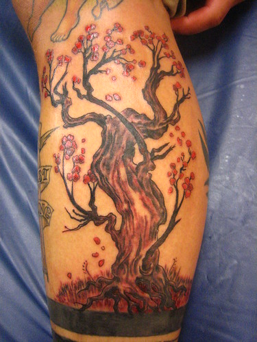 cherry blossom tree tattoo. japanese cherry blossom tree