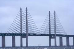 Öresundsbron (Håkan Dahlström) Tags: bridge sea grey skåne sweden malmoe wired sverige bro malmö malmo oresund öresund öresundsbron skane oeresund