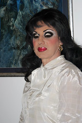Sultry Mood (Christine Fantasy) Tags: shiny feminine silk makeup christine blouse fantasy transvestite crossdresser silky transsexual sheer shemale sexybrunette secretarry pussycatbow exoticmakeup