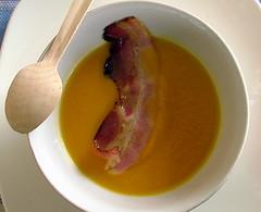 Crema di zucca e bacon