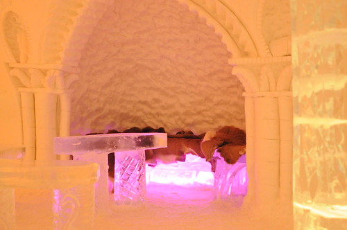 Drinking nook at the ice bar