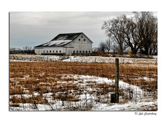 Winter Scene (Lyle C) Tags: old winter white snow building barn rural landscape 50mm countryside nikon decay farm country indiana agriculture nikkor weatherd countryroadsphoto