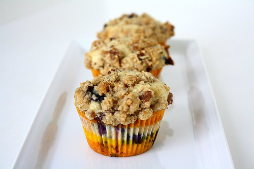 SMS Blueberry Muffins with Pecan Crumble