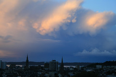 Channel Islands, Jersey, Autumn dawn with mammatus clouds over St. Helier (Monopthalmos) Tags: jersey channelislands sthelier mammatusclouds