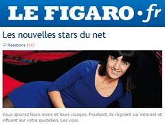 Les nouvelles stars du net - Le Figaro - 29 octobre 2010