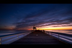 emptiness (Eric 5D Mark III) Tags: ocean california sunset sky cloud seascape color water canon dark landscape pier twilight perspective wideangle nopeople orangecounty sanclemente emptiness ef1635mmf28liiusm eos5dmarkii