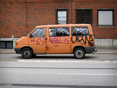 Orange Van (phluids) Tags: orange streetart streets copenhagen denmark graffiti graf danish van ufw closer 2010