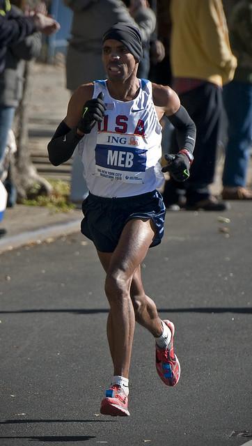 2009 ING New York City Marathon Champion Meb Keflezighi.