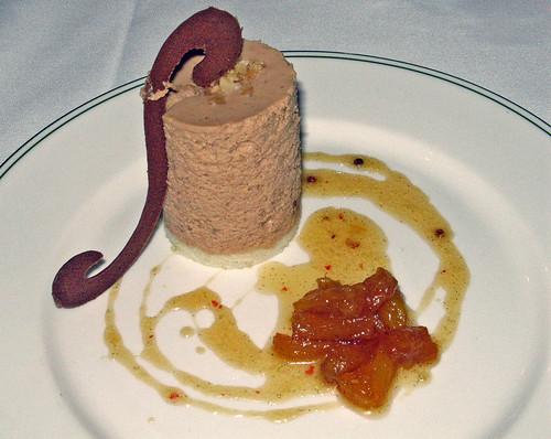 Chocolate Macadamia  Nut Bavarian with Roasted Pineapple