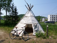 Teepee of northern people.