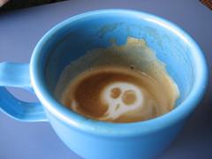 Goth Latte (writergrrrl) Tags: java latte openeyecafe