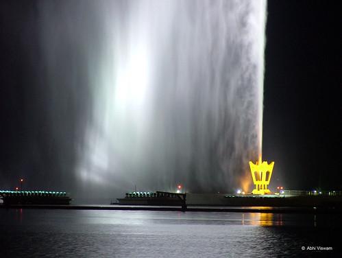 La Fuente del Rey Fahd esta en Jeddah, Arabia Saudita