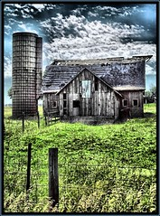 Bucolic (K2D2vaca) Tags: clouds barn countryside illinois decay farm farmland il silo danvers centralillinois blueribbonwinner welcomeall aplusphoto superbmasterpiece k2d2vaca danversillinois