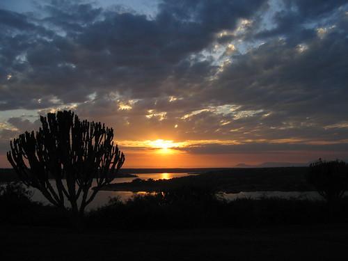 Uganda - QENP Mweya Sunrise from Suite