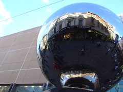 Big Silver Balls (sobriquet.net) Tags: city reflection silver balls australia adelaide sa southaustralia rundlemall pc5000 auspctagged