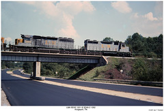 L&N 1201 & 1262 (Robert W. Thomson) Tags: railroad train diesel tennessee railway trains locomotive trainengine ln kingsport crr emd sd402 louisvillenashville clinchfield sixaxle sd35