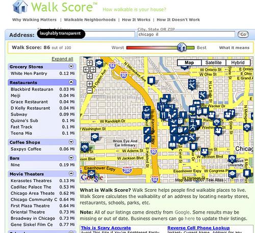 walking score