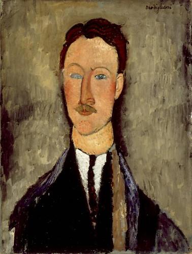 Modigliani, portret van Léopold Survage, 1918