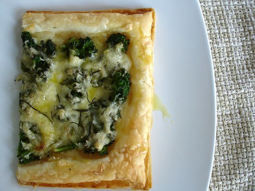 Broccolini, cheese and rosemary tart