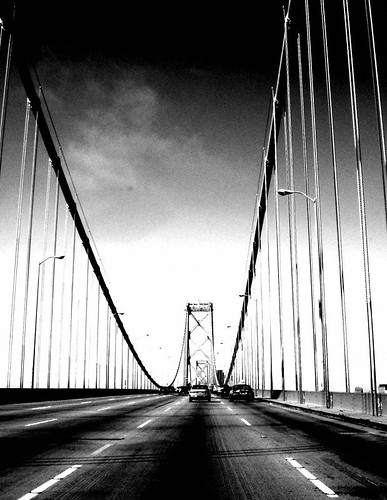 Bay Bridge heading into sf