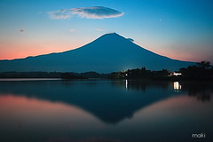 Mt. Fuji / Lake Tanuki - by Maki_C30D